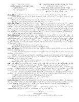 đề thi HSG hoá 12 tỉnh bắc ninh năm 2013