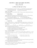 Trắc nghiệm Chương 1 VẬT LÝ 11