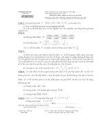 Đề và đáp án thi tuyển sinh lớp 10 THPT Chuyên môn Toán tỉnh Vĩnh Phúc 2007 - 2008