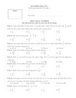 Đề ôn hè học sinh giỏi  toán lớp 4 phần phân số