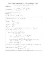 Đề và đáp án thi vào lớp 10 môn Toán trường Chuyên Yên Bái năm 2012 - 2013