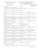 Trường THPT Yên Định I Thanh Hóa,đề thi thử hóa học lần 2 năm 2015
