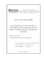 Kế toán doanh thu, chi phí và xác định kết quả kinh doanh tại công ty TNHH thương mại dịch vụ Đại Đảo
