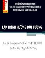 Lập trình hướng đối tượng bài 09  tổng quan về UML và PTTK hđt
