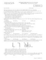 đề và đáp án thi thử hóa học thpt đại học vinh làn 3