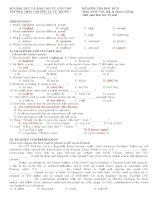 Đề và đáp án thi học kỳ 2 Tiếng Anh 11 chuyên Cần Thơ