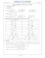 Chuyên đề nguyên hàm, tích phân và ứng dụng