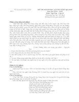 đề thi minh họa hướng dẫn chấm môn ngữ văn 12 sở giáo dục đào tạo bắc ninh đề số 4