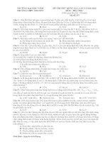 ĐỀ và GIẢI CHI TIẾT CHUYÊN VINH LẦN 2