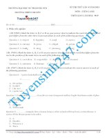 Đề thi thử THPT môn Tiếng Anh số 32
