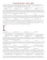 Đề thi thử THPT môn Vật lý số 5