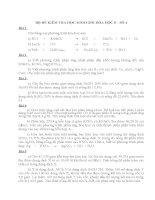 Bộ đề kiểm tra học sinh giỏi Hóa học 8 kèm đáp án số 4