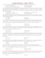 Đề thi thử THPT môn Vật lý số 13
