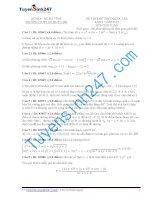 Đề thi thử THPT môn Toán 2015 số 35