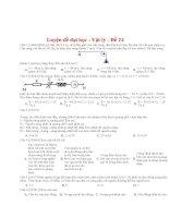 Đề thi thử THPT môn Vật lý số 24