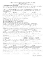 ĐỀ TỰ LUYỆN THI THPT QUỐC GIA NĂM HỌC 2014- 2015 MÔN HÓA ĐỀ SỐ 11