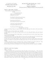 ĐỀ THI THỬ ngữ văn THPT QG LẦN 5 ( THPT Chuyên Hoàng Văn Thụ - Hòa Bình)