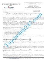 Đề thi thử THPT quốc gia môn Hóa học số 6