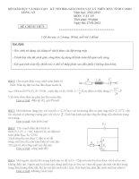 Đề thi học sinh giỏi giải toán trên máy tính Casio năm học 2012 - 2013 môn Vật lý