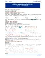 370 câu trắc nghiệm lý thuyết Vật lý