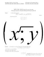 Đề thi tuyển sinh lớp 10 THPT chuyên Đại học Quốc Gia Hà Nội năm học 2012 - 2013 môn toán