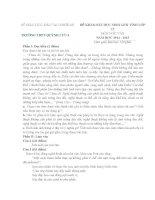 đề và đáp án thi học sinh giỏi  môn ngữ văn 12 trường thpt quỳnh lưu 4