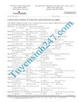 Đề thi thử THPT môn Tiếng Anh số 25