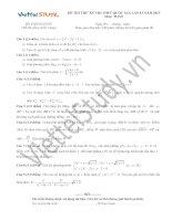 Đề THI THỬ THPT Quốc gia Tháng 06 - 2015 môn Toán (Đợt 15)