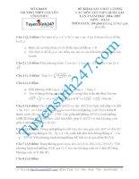 Đề thi thử THPT môn Toán 2015 số 56