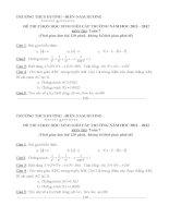 Đề toán lớp 7 - Đề kiểm tra, thi định kỳ, chọn học sinh năng khiếu toán lớp 7 tham khảo (89)