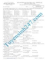 Đề thi thử THPT môn Tiếng Anh số 5