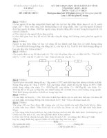 Đề thi vật lý 9 - Đề học sinh giỏi tỉnh Cà Mau 2010 sưu tầm bồi dưỡng