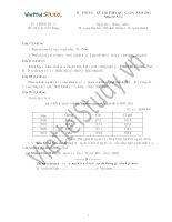 Bài thi thử kì thi THPT Quốc gia địa lí số 1