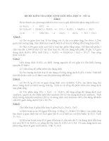 Bộ đề kiểm tra học sinh giỏi Hóa học 8 kèm đáp án số 14