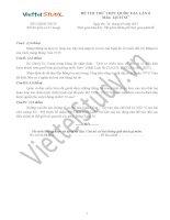Đề THI THỬ THPT Quốc gia Tháng 03 - 2015 môn Lịch Sử (Đợt 6)