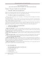 CÁC NỘI DUNG ÔN TẬP HỌC PHẦN PHƯƠNG PHÁP NGHIÊN CỨU TRONG KINH DOANH