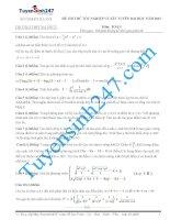 Đề thi thử THPT môn Toán 2015 số 40