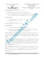 Đề thi thử THPT môn Toán 2015 số 64