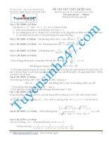 Đề thi thử THPT môn Toán 2015 số 33