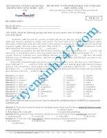 Đề thi thử THPT môn Tiếng Anh số 24