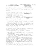 ĐỀ THI HSG NĂM 2014-2015 TRƯỜNG THPT NGUYỄN ĐĂNG ĐẠO môn vật lý