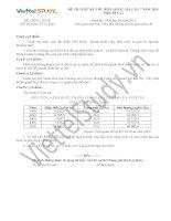 Đề THI THỬ THPT Quốc gia Tháng 04 - 2015 môn Địa Lý (Đợt 7)