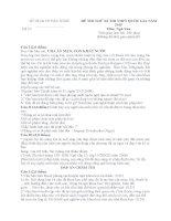 đề thi minh họa hướng dẫn chấm môn ngữ văn 12 sở giáo dục đào tạo bắc ninh đề số 10