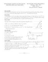 Đề thi học sinh giỏi môn vật lý lớp 11 (46)