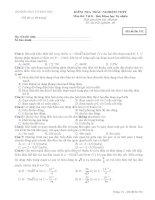 Đề thi trắc nghiệm môn vật lý 2 lớp 12