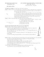 Tuyển tập đề thi Học SG môn vật lý lớp 12 hay nhất