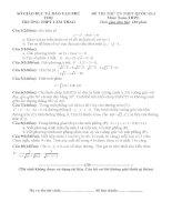 Đề thi thử quốc gia Môn toán trường THPT Lâm Thao Phú Thọ kèm đáp án chi tiết