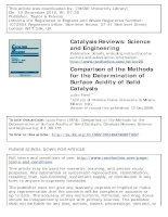 comparison of the methods for the determination of surface acidity of solid catalysts
