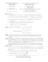 Đề thi học sinh giỏi môn toán 9 tỉnh Thanh Hóa năm học 2010 -  2011 (có đáp án)