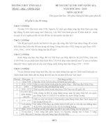 TRƯỜNG THPT TĨNH GIA 3 ĐỀ THI THỬ KÌ THI THPT QUỐC GIA môn lịch sử